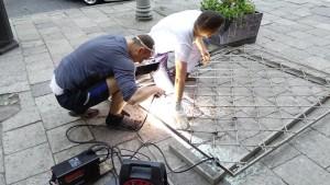 Зварювальні роботи при демонтажі банкомату