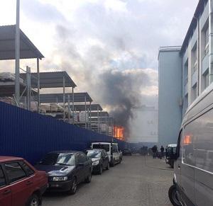 Пожежа біля Епіцентру