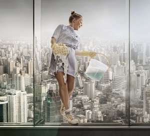 Помыть окно - Украинский Богатырь