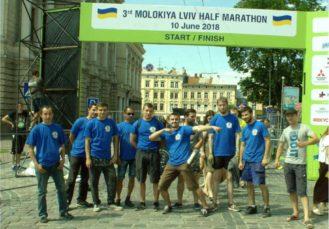 грузчики на Lviv Half Marathon 2018